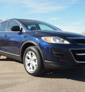 mazda cx 9 2011 dk  blue suv touring 6 cylinders shiftable automatic 80504