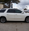 gmc acadia 2012 white suv denali gasoline 6 cylinders front wheel drive shiftable automatic 75070