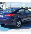 hyundai elantra 2013 dk  blue sedan gls gasoline 4 cylinders front wheel drive automatic 77094