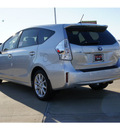 toyota prius v 2012 silver wagon five hybrid 4 cylinders front wheel drive automatic 77469