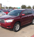 toyota highlander 2010 dk  red suv base gasoline 4 cylinders front wheel drive automatic 76053