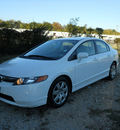 honda civic 2008 white sedan lx gasoline 4 cylinders front wheel drive automatic 75606