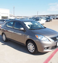 nissan versa 2013 silver sedan 1 6 sv gasoline 4 cylinders front wheel drive automatic 76116