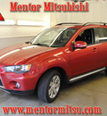 mitsubishi outlander 2010 dk  red suv se gasoline 4 cylinders all whee drive automatic 44060