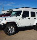 jeep wrangler unlimited 2013 white suv sahara gasoline 6 cylinders 4 wheel drive automatic 76011