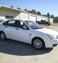 ford focus 2008 white sedan se gasoline 4 cylinders front wheel drive automatic 75503