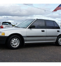 honda civic 1989 silver dx 4 cylinders automatic 76543