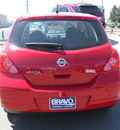 nissan versa 2010 red hatchback gasoline 4 cylinders front wheel drive automatic 79925