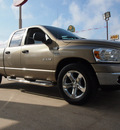 dodge ram 1500 2008 beige pickup truck laramie gasoline 8 cylinders rear wheel drive automatic 77521