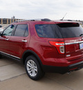 ford explorer 2013 red suv xlt flex fuel 6 cylinders 2 wheel drive automatic 76108