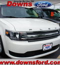 ford flex 2013 white suede se gasoline 6 cylinders front wheel drive  6 speed selectshift tran 08753