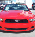 ford mustang 2010 red v6 premium gasoline 6 cylinders rear wheel drive automatic 77477