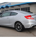 honda civic 2013 silver coupe si gasoline 4 cylinders front wheel drive manual 77025