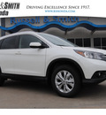 honda cr v 2013 white suv ex l with navi gasoline 4 cylinders front wheel drive automatic 77025