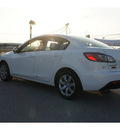 mazda mazda3 2011 white sedan i sport gasoline 4 cylinders front wheel drive automatic 78521