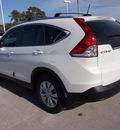 honda cr v 2013 white suv ex l w navi gasoline 4 cylinders front wheel drive automatic 28557