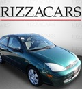 ford focus 2001 dk  green hatchback zx3 gasoline 4 cylinders front wheel drive automatic with overdrive 60546