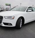 audi a4 2013 white sedan 2 0t quattro premium plus gasoline 4 cylinders all whee drive 8 speed tiptronic 46410