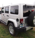 jeep wrangler unlimited 2012 silver suv sahara gasoline 6 cylinders 4 wheel drive automatic 75067