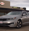 kia optima hybrid 2012 dk  gray sedan hybrid 4 cylinders front wheel drive automatic 75150