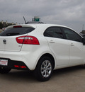 kia rio5 2013 white hatchback lx gasoline 4 cylinders front wheel drive automatic 75150