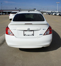 nissan versa 2013 white sedan 1 6 sv gasoline 4 cylinders front wheel drive cont  variable trans  75150