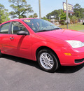 ford focus 2007 red sedan zx4 se gasoline 4 cylinders front wheel drive manual 32401