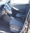 hyundai accent 2013 black hatchback gs gasoline 4 cylinders front wheel drive autostick 77065