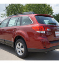 subaru outback 2013 red wagon 2 5i gasoline 4 cylinders all whee drive cont  variable trans  77099