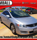honda civic 2009 silver coupe ex gasoline 4 cylinders front wheel drive automatic 77375