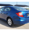 honda civic 2012 blue sedan lx gasoline 4 cylinders front wheel drive automatic 76502