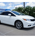 honda civic 2012 white sedan si gasoline 4 cylinders front wheel drive 6 speed manual 78521