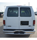 ford e series wagon 2006 white van e 150 xlt gasoline 8 cylinders rear wheel drive automatic 77539