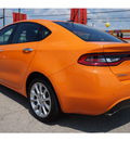 dodge dart 2013 orange sedan limited gasoline 4 cylinders front wheel drive automatic 76543