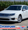 ford fusion 2012 white sedan sel gasoline 4 cylinders front wheel drive automatic 62708