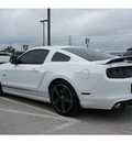 ford mustang 2014 white coupe gt gasoline 8 cylinders rear wheel drive automatic 78611