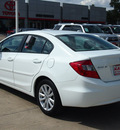 honda civic 2012 white sedan ex gasoline 4 cylinders front wheel drive automatic 78232