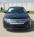 ford fusion 2012 black sedan sel gasoline 4 cylinders front wheel drive automatic 76108