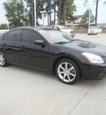 nissan maxima 2008 black sedan 3 5 se gasoline 6 cylinders front wheel drive automatic 75503