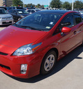 toyota prius 2011 red three hybrid 4 cylinders front wheel drive automatic 76053