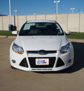 ford focus 2012 white sedan se flex fuel 4 cylinders front wheel drive automatic 76108
