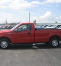 ford f 150 2010 red xl gasoline 8 cylinders 2 wheel drive automatic 62863