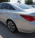 hyundai sonata 2013 silver sedan se gasoline 4 cylinders front wheel drive automatic 75070