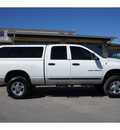 dodge ram 2500 2005 white slt diesel 6 cylinders 4 wheel drive automatic 78028
