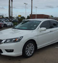 honda accord 2014 white sedan gasoline 6 cylinders front wheel drive 6 speed automatic 77566