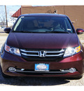 honda odyssey 2014 dk  red van touring elite 6 cylinders automatic 75606