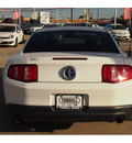 ford mustang 2011 white coupe v6 gasoline 6 cylinders rear wheel drive 6 speed manual 77375