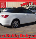 chrysler 200 convertible 2013 white touring gasoline 4 cylinders front wheel drive automatic 79110