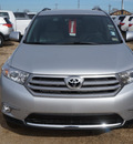 toyota highlander 2013 silver suv plus gasoline 6 cylinders front wheel drive 5 speed automatic 76053