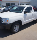 toyota tacoma 2014 white gasoline 4 cylinders 2 wheel drive 5 speed manual 76053
